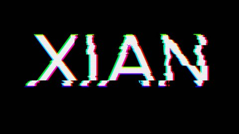 From the Glitch effect arises Big city XIAN. Then the TV turns off. Alpha channel Premultiplied - Matted with color black