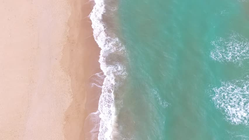 Top view of wavy sea HD Drone Shot. Bird's eye view of Blacksea holiday region. | Shutterstock HD Video #1028949437