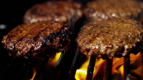 Fresh Organic Flame Grilled Beef Burgers Healthy Dining Choice Barbecue Flavor