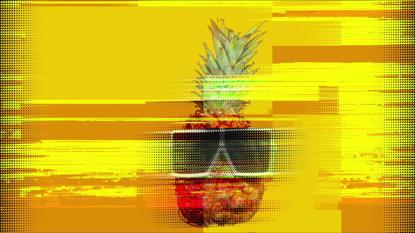 Cool mr pineapple head with shades and overlayed distortion | Shutterstock HD Video #1029170507