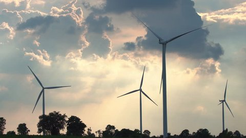 Wind energy turbines are one of the cleanest, renewable electric energy source Electricity is generated by electric generators location huai bong nakhonratchasima Thailand