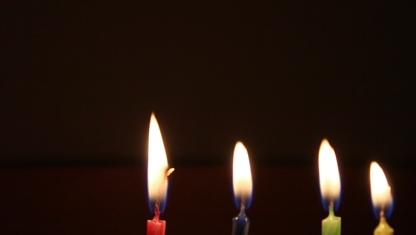 Candlelight in the dark background, birthday candles flame | Shutterstock HD Video #1029526787