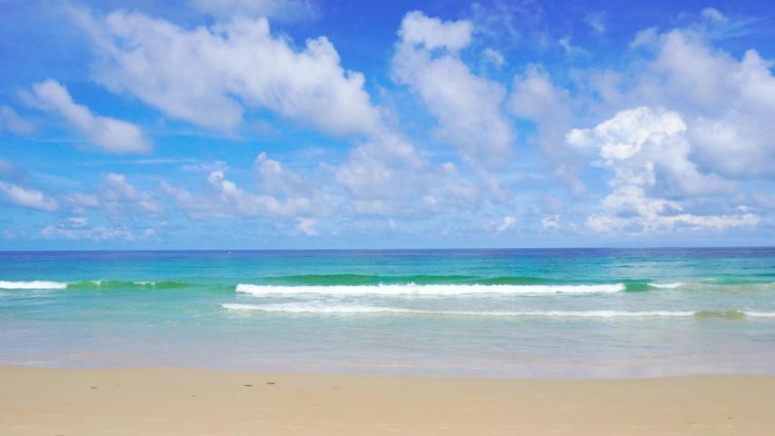 Phuket Sea Beach, In The Summer At Karon Beach, Phuket, Thailand On May 2019. 4K UHD Video Clip. | Shutterstock HD Video #1029693947