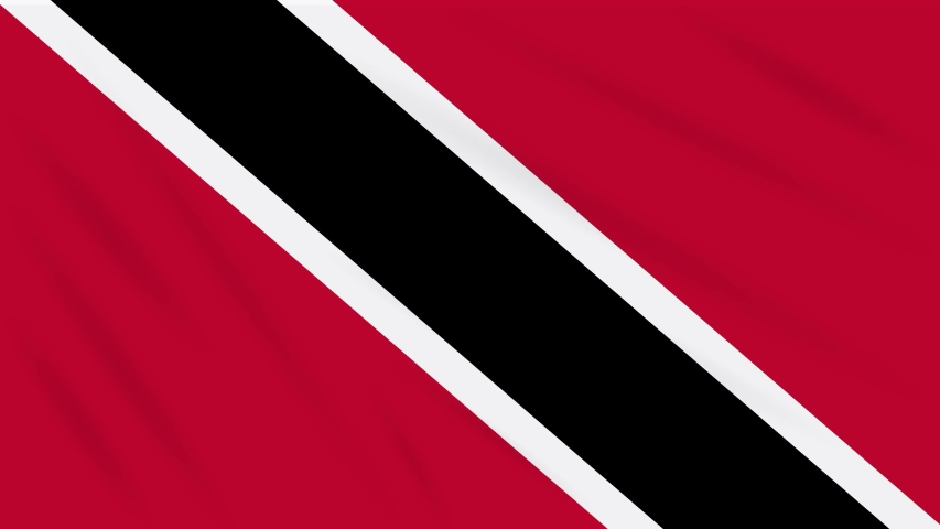 Trinidad and Tobago flag waving cloth, ideal for background loop | Shutterstock HD Video #1029966167