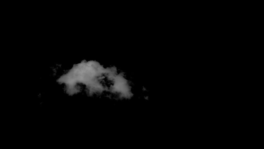 Cotton cloud cluster black sky background. Cloud alpha cloud green pre-keyed. | Shutterstock HD Video #1030127657