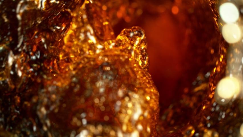 Super Slow Motion Shot of Cola Vortex at 1000 fps.