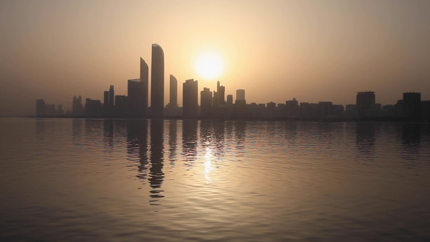 Sunrise in Abu Dhabi, United Arab Emirates | Shutterstock HD Video #1030343057