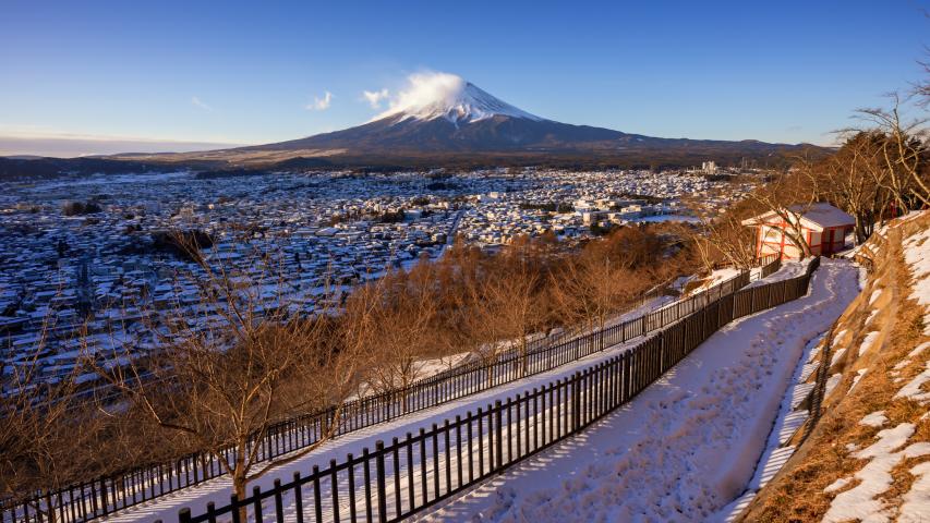 4K Time lapse Mt.Fuji at sunrise, winter season, Japan | Shutterstock HD Video #1030473827