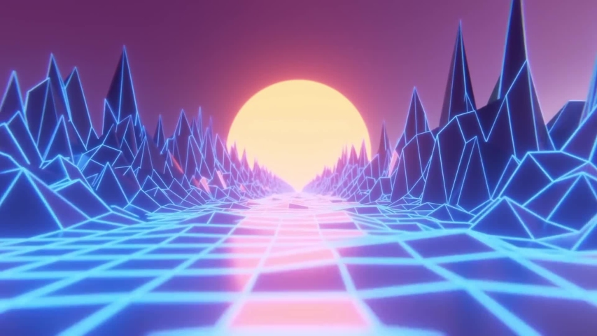 Neon Walkthrough Path  - Moving Background | Shutterstock HD Video #1030577987