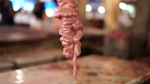 Cow Intestines for sale at Butcher's Shop