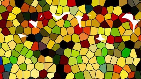 An initial mosaic letter Q.