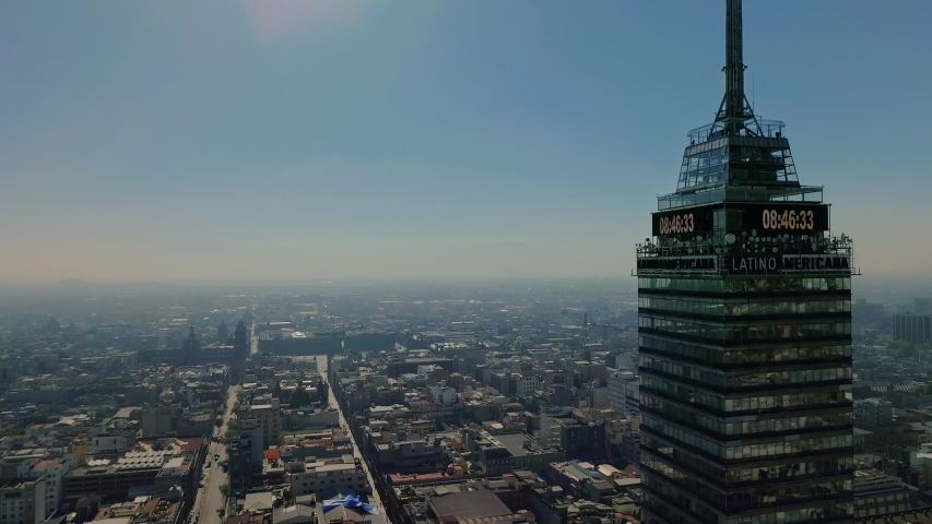 Mexico, cdmx / Mexico - 11 01 2018: Shot of Torre Latinoamericana emblematic building in mexico city shot on November 1, 2018 | Shutterstock HD Video #1031030987