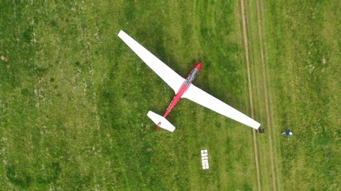 Sailplane Glider in Germany - Takeoff, Landing and more from above with Drone