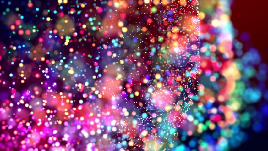 Multicolored particles like confetti or spangles float in a viscous liquid and glitter in the light with depth of field. 3d abstract animation of particles in 4k. luma matte as the alpha channel. 30 | Shutterstock HD Video #1031403077