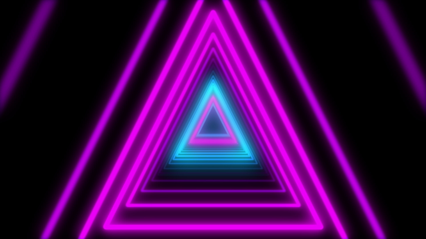 Abstract Lights neon triangles. Loop animation. | Shutterstock HD Video #1031407967