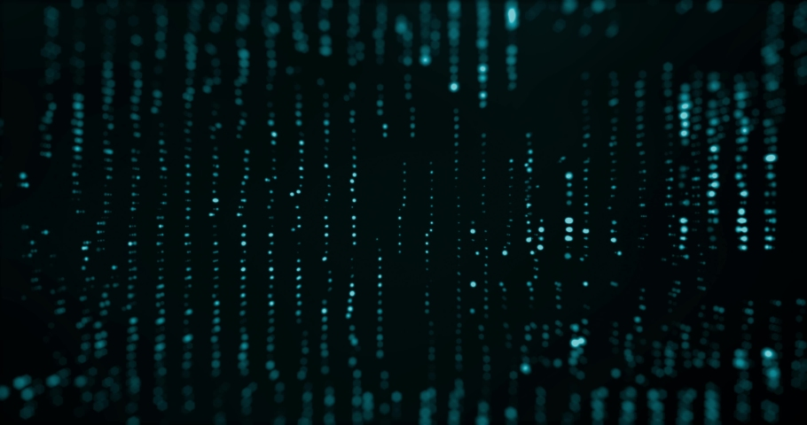 Abstract digital background hi-tech and scientific technology data.  Technological particles. Digital VR and AR future computer interface. Global network connect communication or social media loop. | Shutterstock HD Video #1031528267