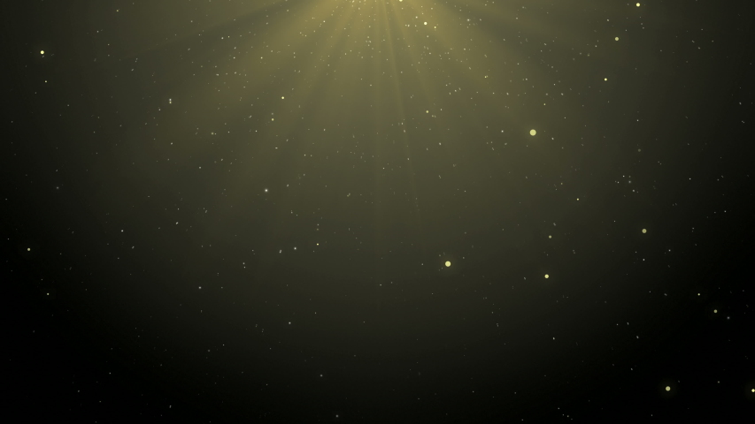 Background where golden particles slowly descend from top to bottom #1031733887