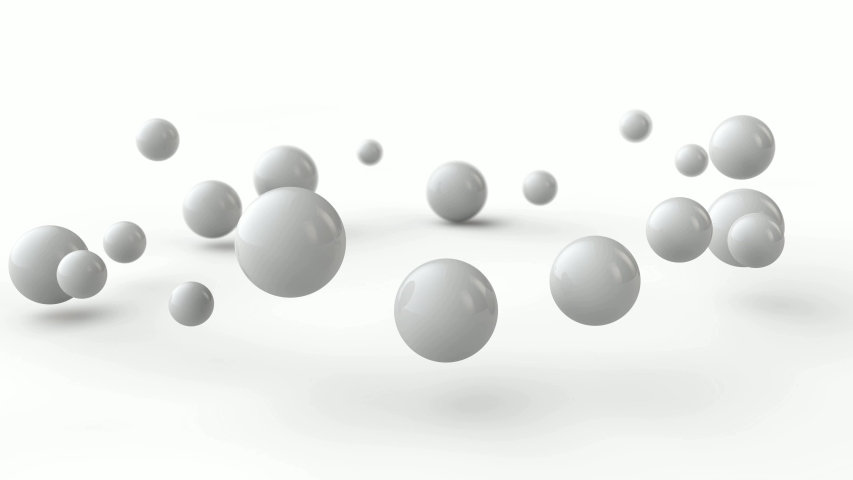 3D animation of a white ball which is divided into many spheres. | Shutterstock HD Video #1031751077