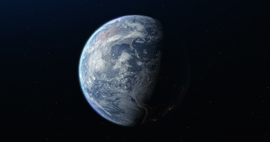 Animation of the planet Earth in the space   Shutterstock HD Video #1031804807