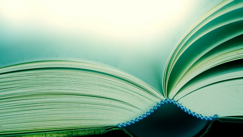Close up opened book on the table , wind turning the book page ,reading textbook or  learning education concept    Shutterstock HD Video #1031891507