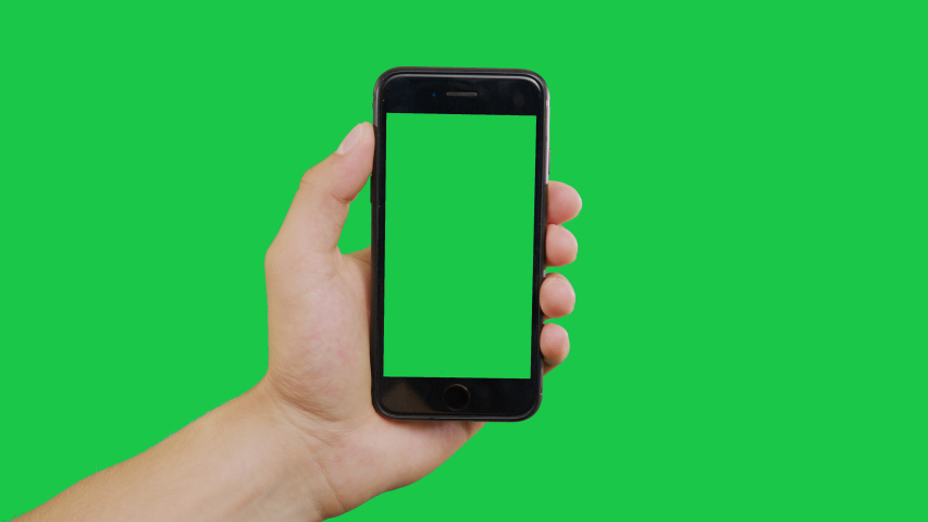 New York, USA - June 20, 2019: Finger Swipes Right Smartphone Green Screen. Pointing Finger Clicking On Phone Screen with Green Background. Use in any project that depicts finger, gesture, touchscreen | Shutterstock HD Video #1031905127