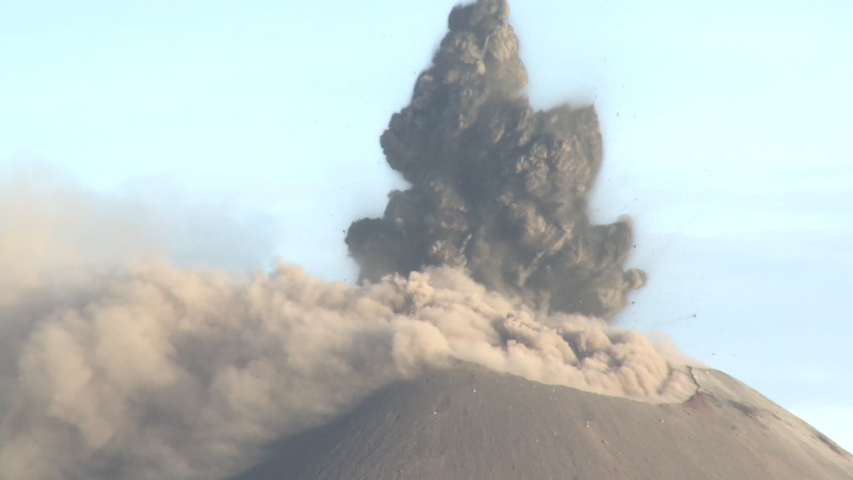Volcano Erupts Spectacularly Launching Lava And Rocks Into Air - Krak   Shutterstock HD Video #1032173087