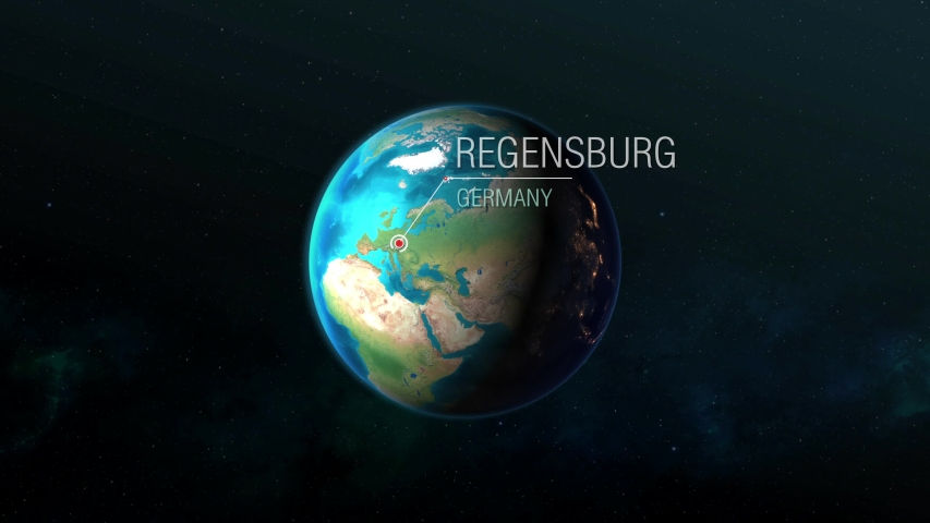 Germany - Regensburg - Zooming from space to city | Shutterstock HD Video #1032404357