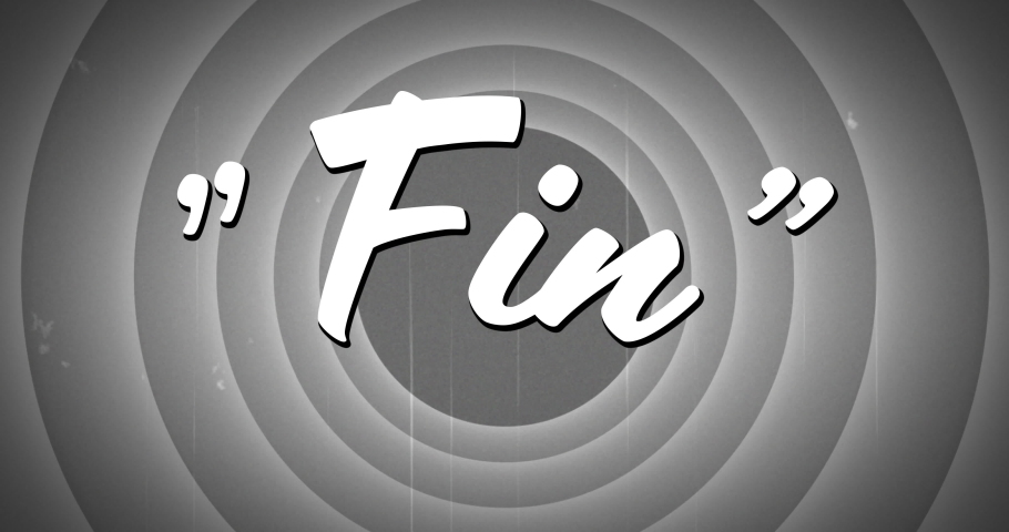 Digital animation of a Fin text appearing in the middle of circle patterns in monochrome and static | Shutterstock HD Video #1032449447