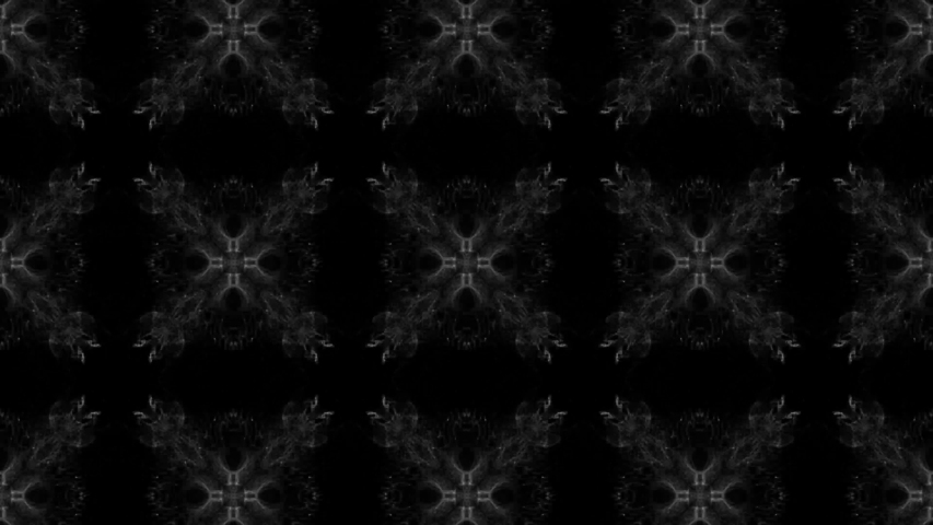 Kaleidoscope on black background with changing shapes smoky animation   Shutterstock HD Video #1032641177