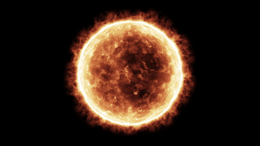 4k Sun Solar Atmosphere isolated on black background. 3D Render | Shutterstock HD Video #1032800537
