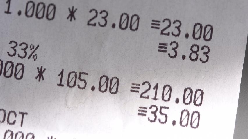 Paper Shopping Receipts close up | Shutterstock HD Video #1032937487