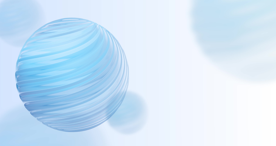 4K abstract technology and science animated background. 3d blue sphere with lines on white. Template for presentations, banners and social media. | Shutterstock HD Video #1033261067