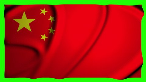 China Animation Flag Animation Green Screen Animation China Waving Flag Waving Green Screen Waving China 4k Flag 4k Green Screen 4k China chinese Flag chinese Green Screen chinese