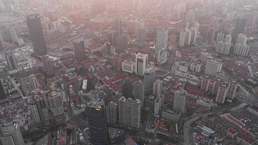 Asian China Shanghai City Architecture Scenery | Shutterstock HD Video #1033395527