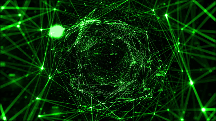 Abstract space background, geometry surfaces, lines and points. Abstract tunnel grid. Can be used as digital dynamic wallpaper, technology background. | Shutterstock HD Video #10338437