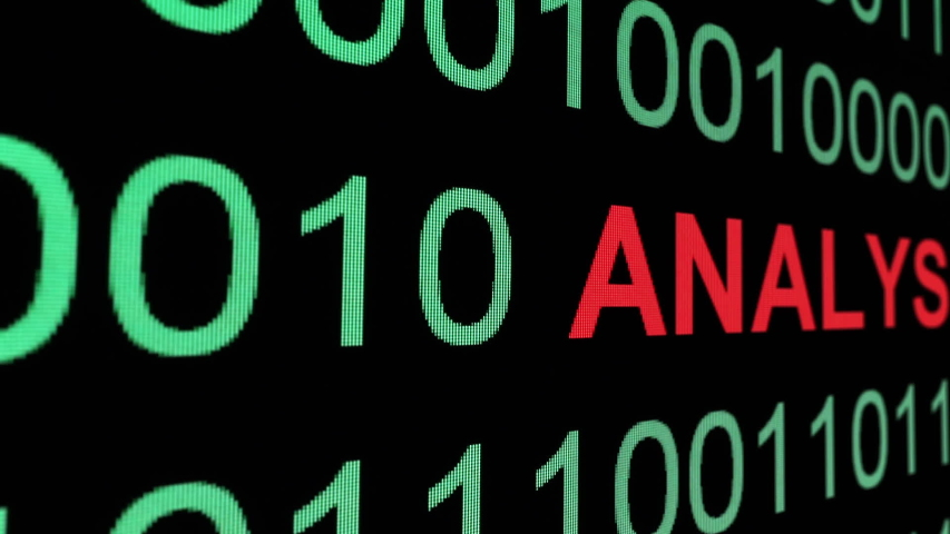 Web analysis text on binary data | Shutterstock HD Video #1034677367