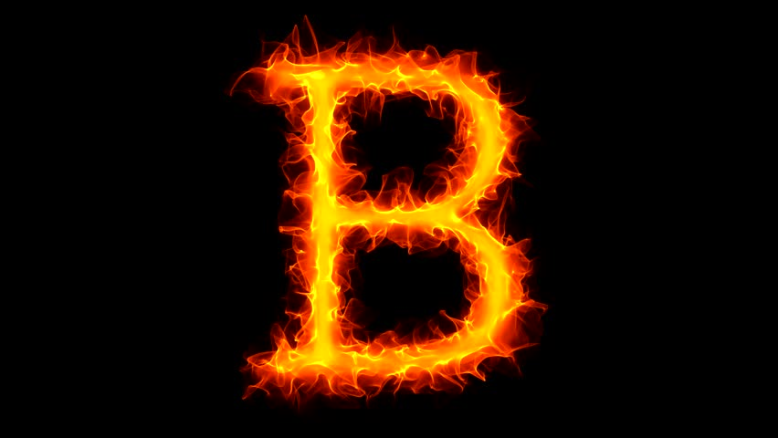 Letter R On Fire Stock Footage Video 1034806 | Shutterstock Letter B Fire
