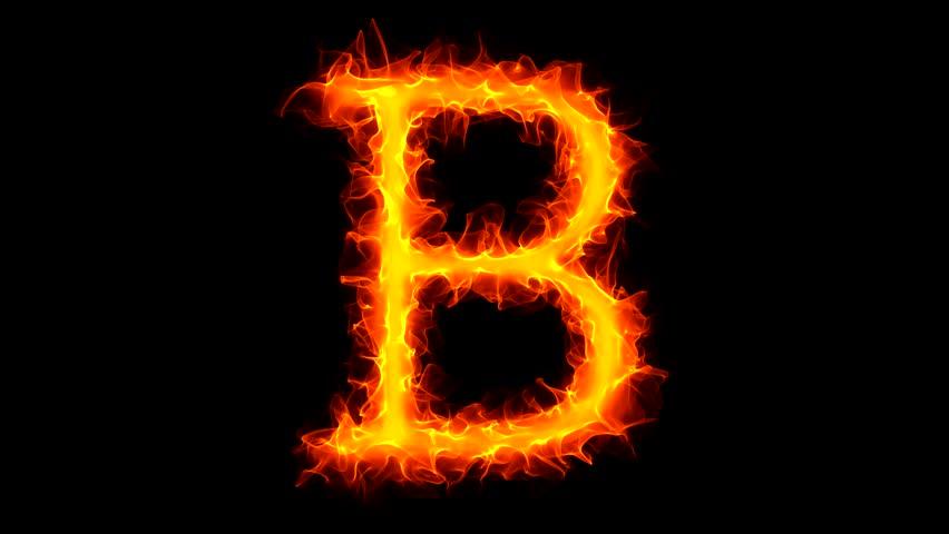 Letter R On Fire Stock Footage Video 1034806 | Shutterstock Letter B Fire