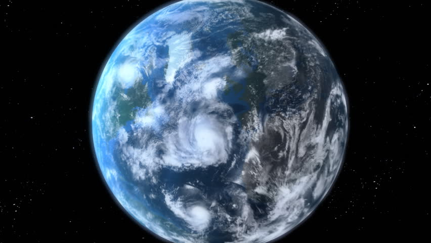 earth zoom beautiful 3d animation