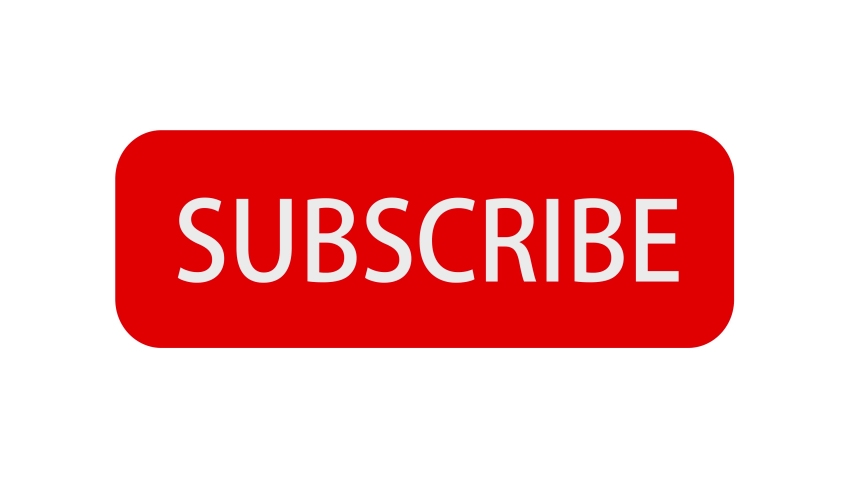 Animation of Social Network. Subscribe Button and Bell Notification on White Background. | Shutterstock HD Video #1034935397