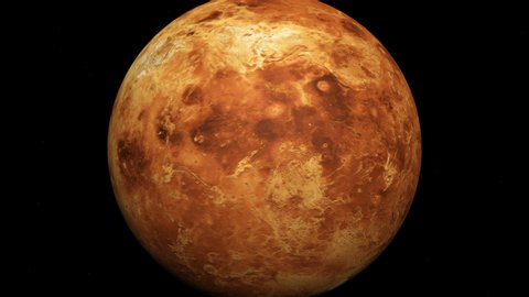 The planet Venus without atmosphere