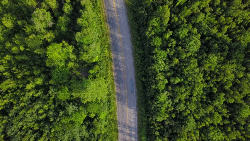 Aerial Drone View: Country Road #1034955917
