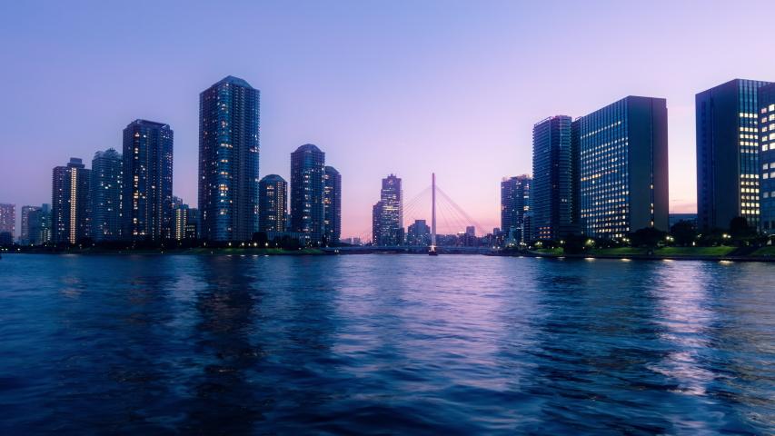 Time lapse of urban city skyline. | Shutterstock HD Video #1035182687