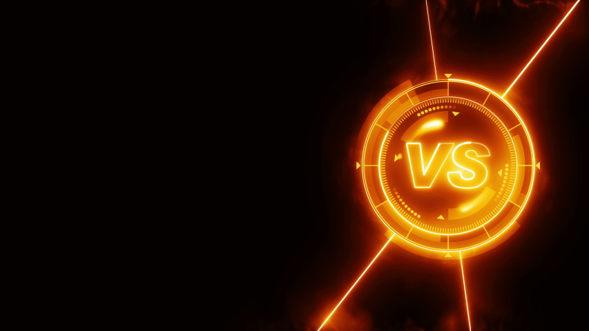 Futuristic sports game loop animation. Versus fight background. Radar neon digital display. VS. Game control interface element. Battle fight sports competition. | Shutterstock HD Video #1035187247