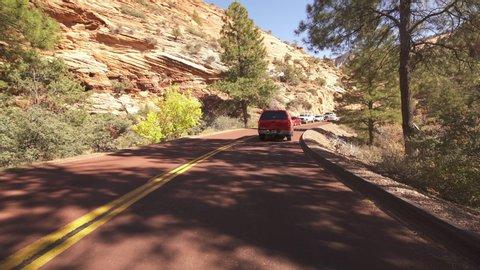 Zion National Park Hyperlapse Driving Time Lapse Zion Mount Carmel Highway Utah