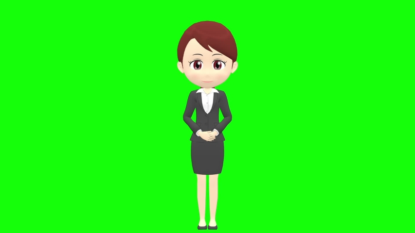 [Presentation A] Woman B suit front whole body | Shutterstock HD Video #1035326777