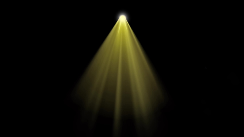 Animation yellow light beam from above on black background. | Shutterstock HD Video #1035388037