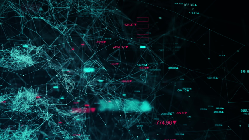 Business data network with stock numbers and graphs, beautiful 3D animation, ultra HD 4K seamless loop. | Shutterstock HD Video #1035455657