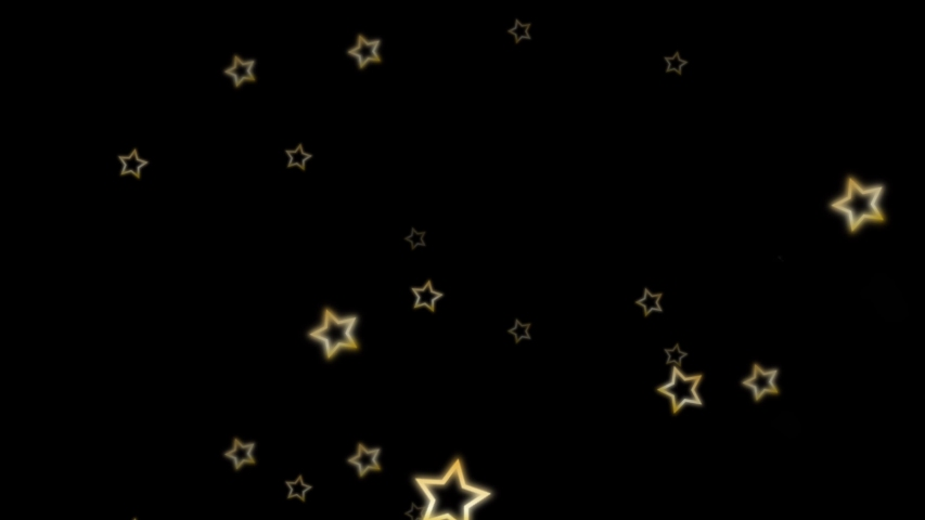 Golden star falling from above on black background.  | Shutterstock HD Video #1035505547