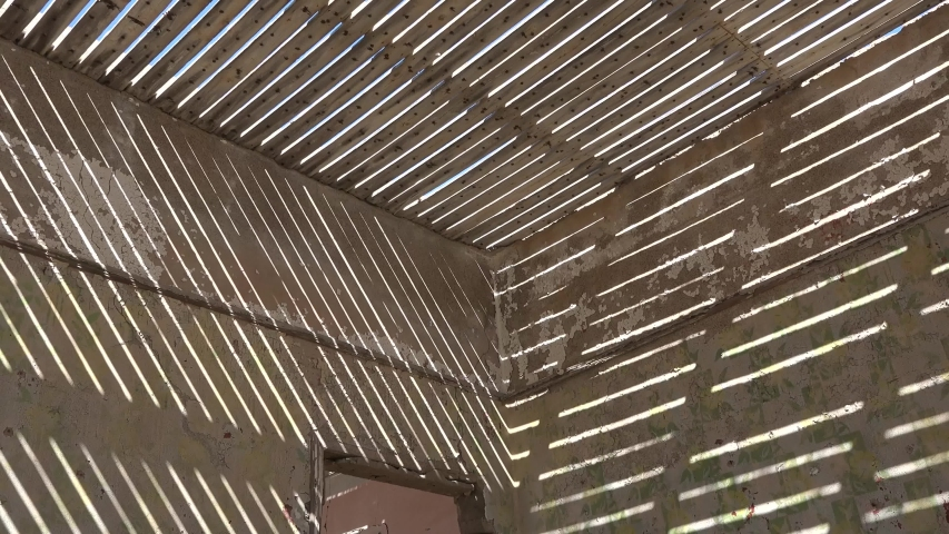 Texture. Geometric Parallel Sun Shadows. Solar shadows on the walls of the house. | Shutterstock HD Video #1035565307
